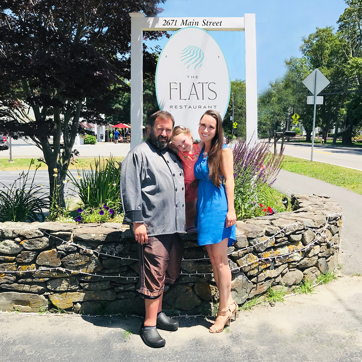 We strive to earn your trust as your favorite Cape Cod restaurant - Love, Mason, Ksenia, and Keira Pryme and The Flats staff