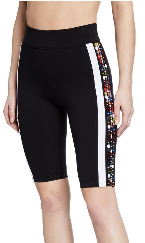 No Ka Oi Lapuwale Embellished Side-Stripe Bike Shorts.
