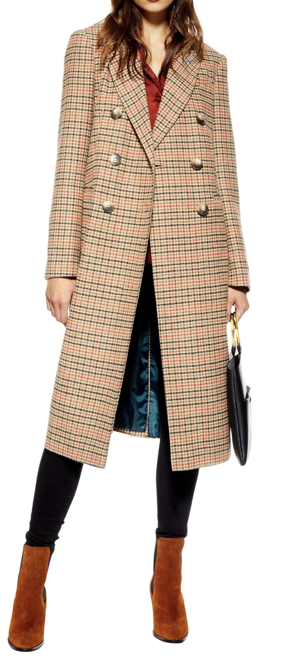 TopShop Brushed Long Coat.