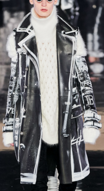 Etched leather coats