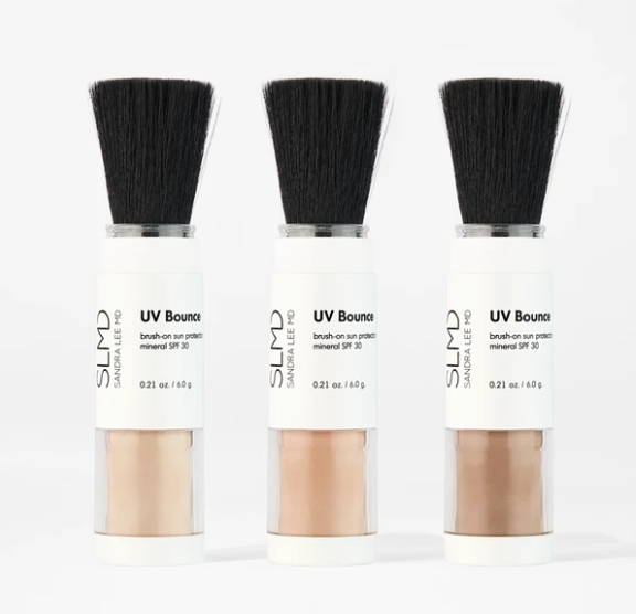 BRUSH ON SPF POWERS AVAILABLE IN 3 SHADES | Images courtesy of  slmdskincare.com