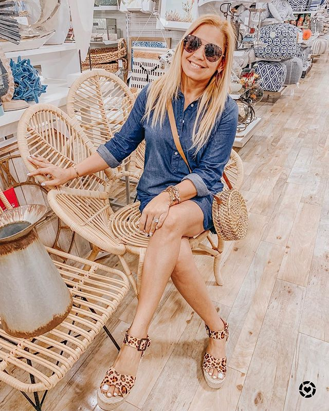 Hanging out at my favorite place @homegoods. Wearing this chic and comfortable denim dress, that's 50% off right now! ⬅️ http://liketk.it/2B9C0 #liketkit @liketoknow.it Follow me on the LIKEtoKNOW.it app to get the product details for this look and others #LTKsalealert #LTKspring #LTKstyletip #LTKunder50 #LTKunder100 #LTKitbag . . . . . . . . . . . . #ootd #homegoods #igdaily #igstyle #styleinspo #springsty #homegoodsmirror #stylelookbook #solesociety #leopardwedges #quayaustralia #quayxjaclyn #strawbag #louisvuitton #neverfullmm #oldnavy #oldnavystyle #nordstrom