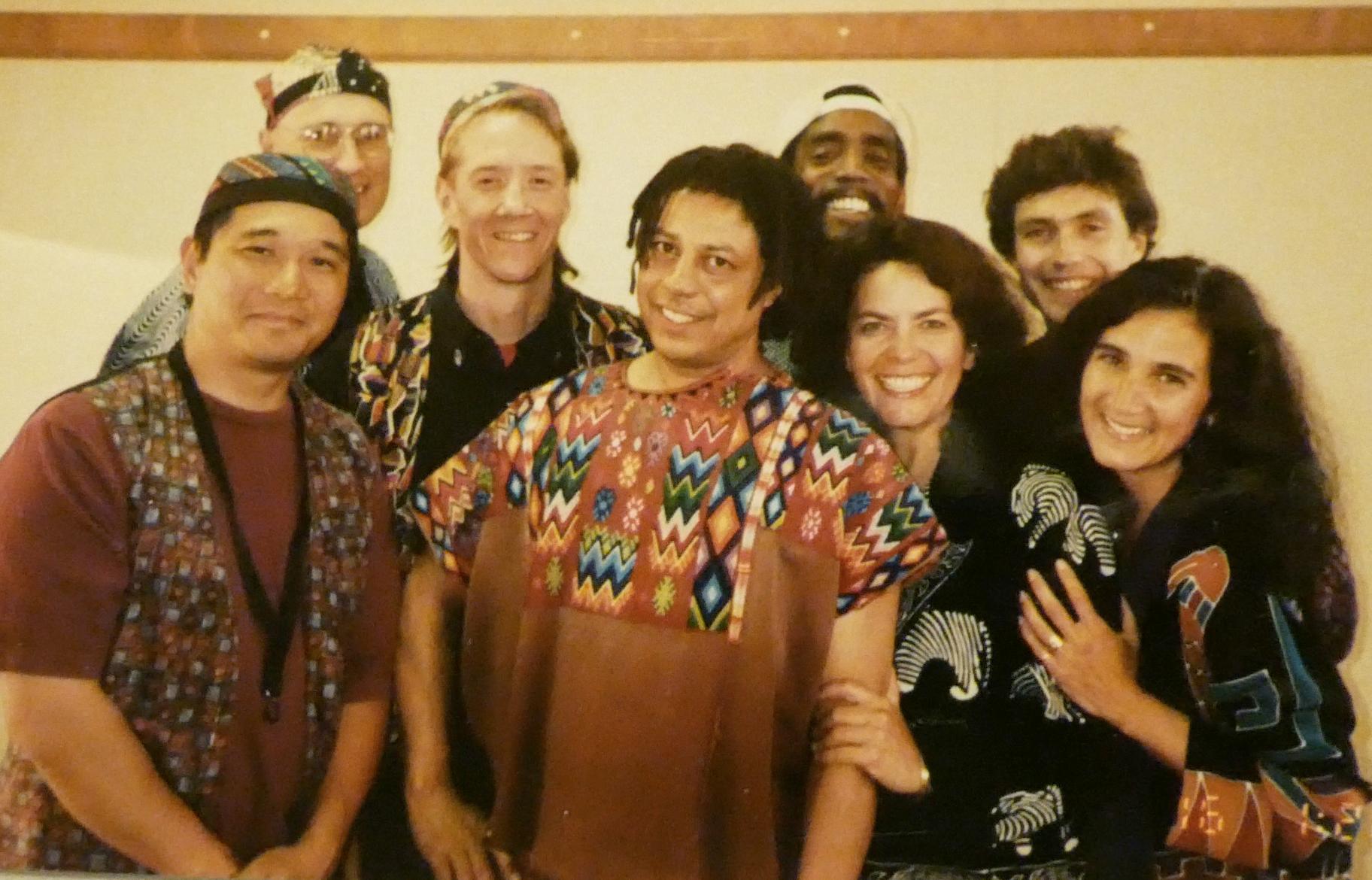 A fabulous crew of musicians for our gig at Denver's Botanic Gardens. From left, Glenn Nitta, Mark Harris, Gordon Kennedy, Chico Meira, Carlton Bacon, Rebecca Martin, Mark McCoin and Lois.