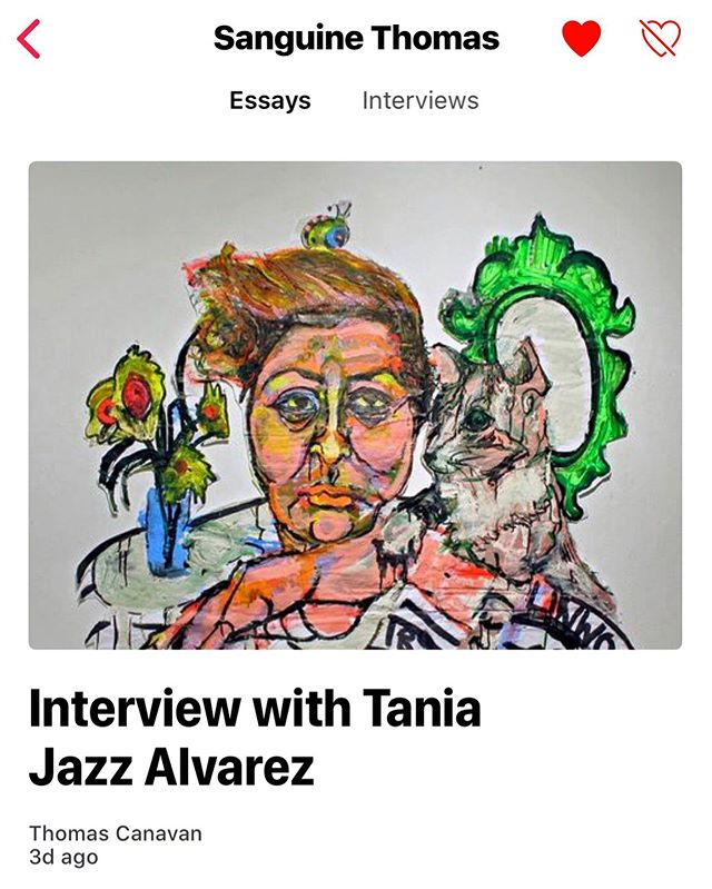 Did you know that Sanguine Thomas has a channel on the Apple News app?  All of our interviews and essays are there that feature the incredible artists we work with. It's a great way to dive a little deeper into their lives and ideas.  Open the app on your iPhone and search for Sanguine Thomas to find us!  #applenews #art #artistinterviews #art_spotlight #artworldly #painting