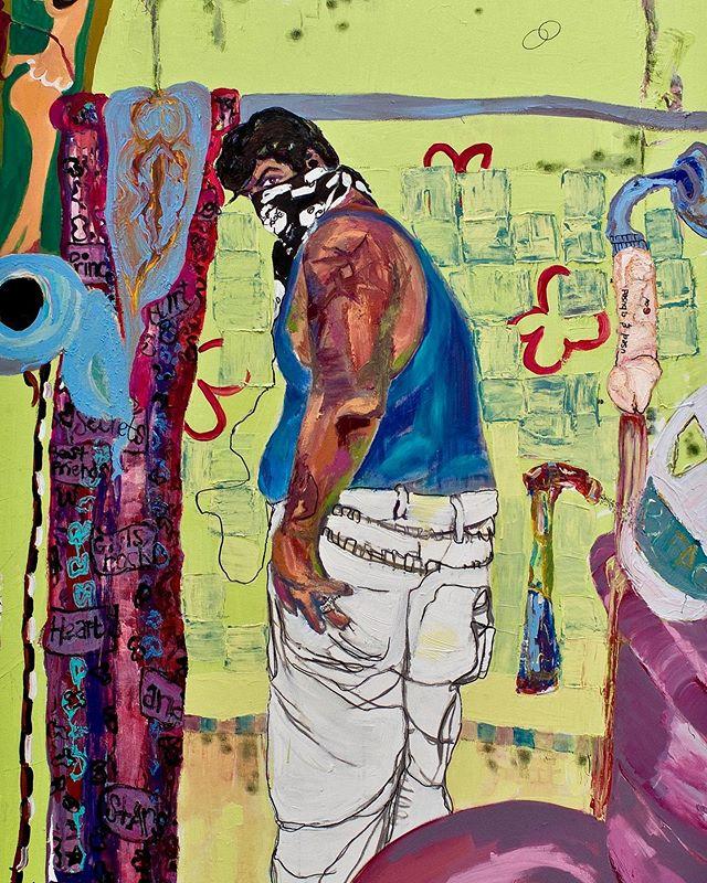 New feature exhibition on view through June 8th.  Tania Jazz Alvarez: Identity Politic-y  Mildew Marr 72x48in. 2011  Link in bio  #art #makearteveryday #contemporaryart #modernart #painting #drawing #practice #visualart #artoftheday #artsdaily #losangeles #sanguinegallery #sanguinethomas
