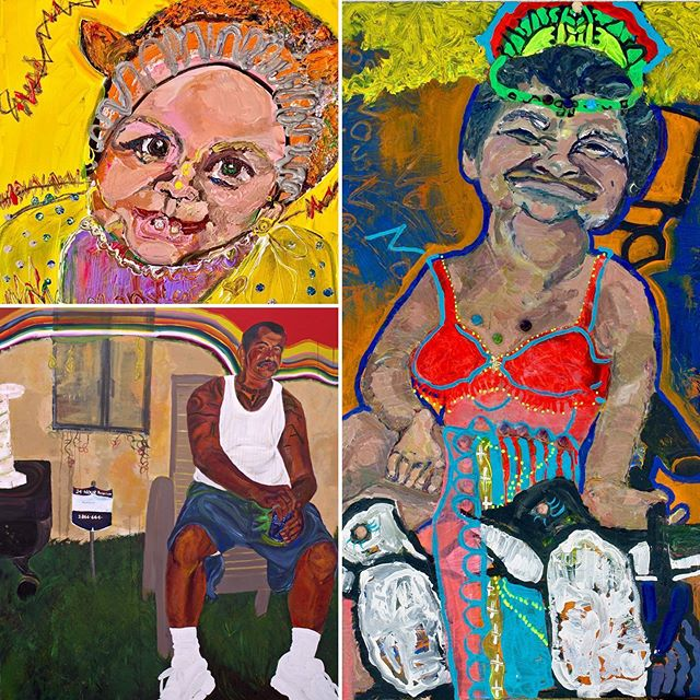 How can you not love these people? They represent truth and honesty. They are our mothers, cousins, nieces, daughters, and brothers given to us in their technicolor glory.  Tania Jazz Alvarez: Identity Politic-Y  May 12 - June 8, 2019  #art #makearteveryday #contemporaryart #modernart #painting #drawing  #practice #visualart #artoftheday #artsdaily #family