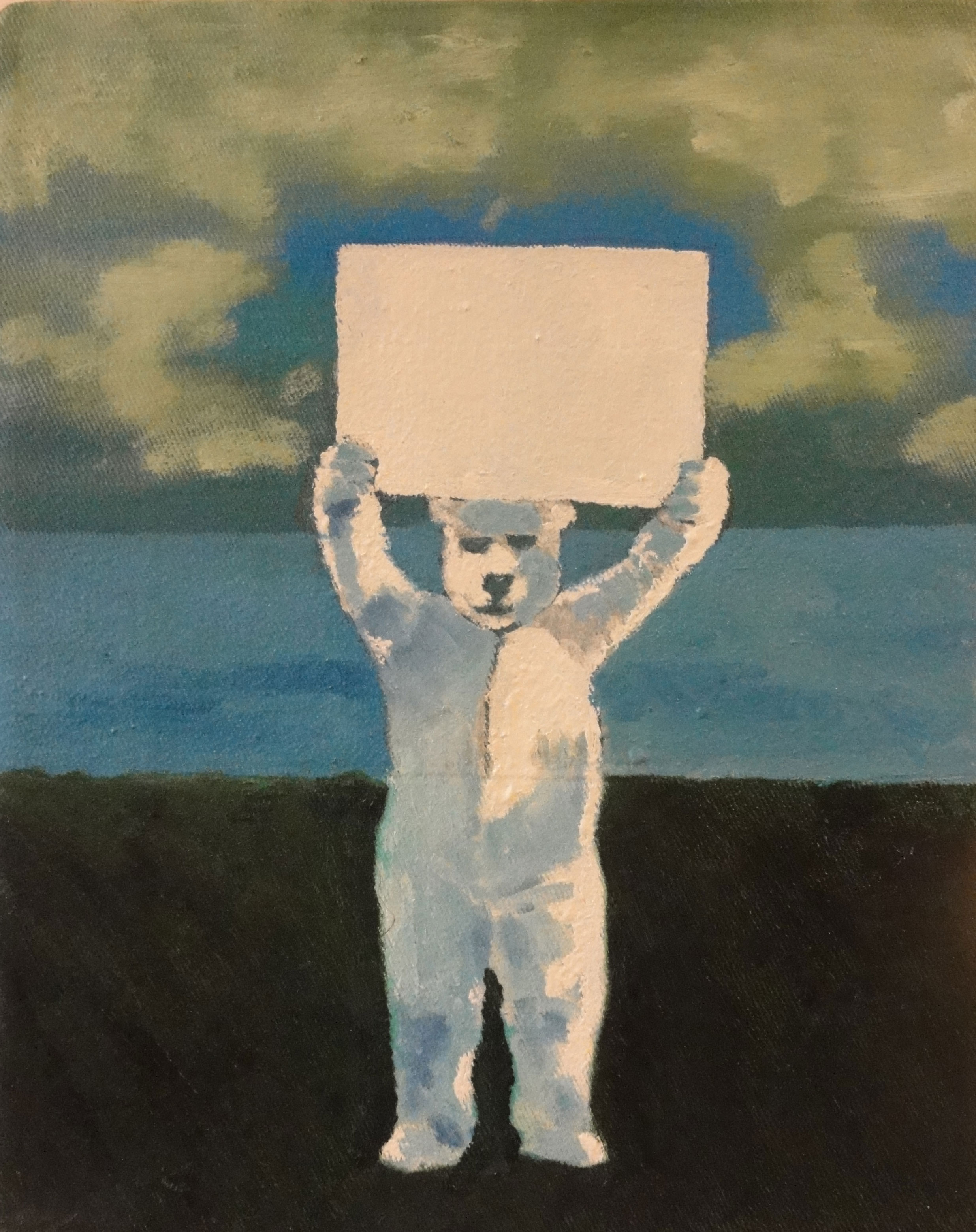 Icebear protester (in private collection)