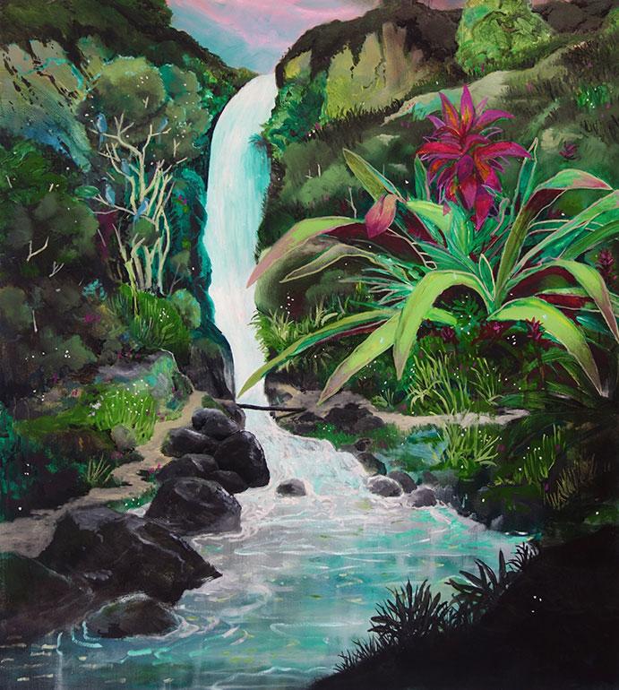 Houseplant waterfall