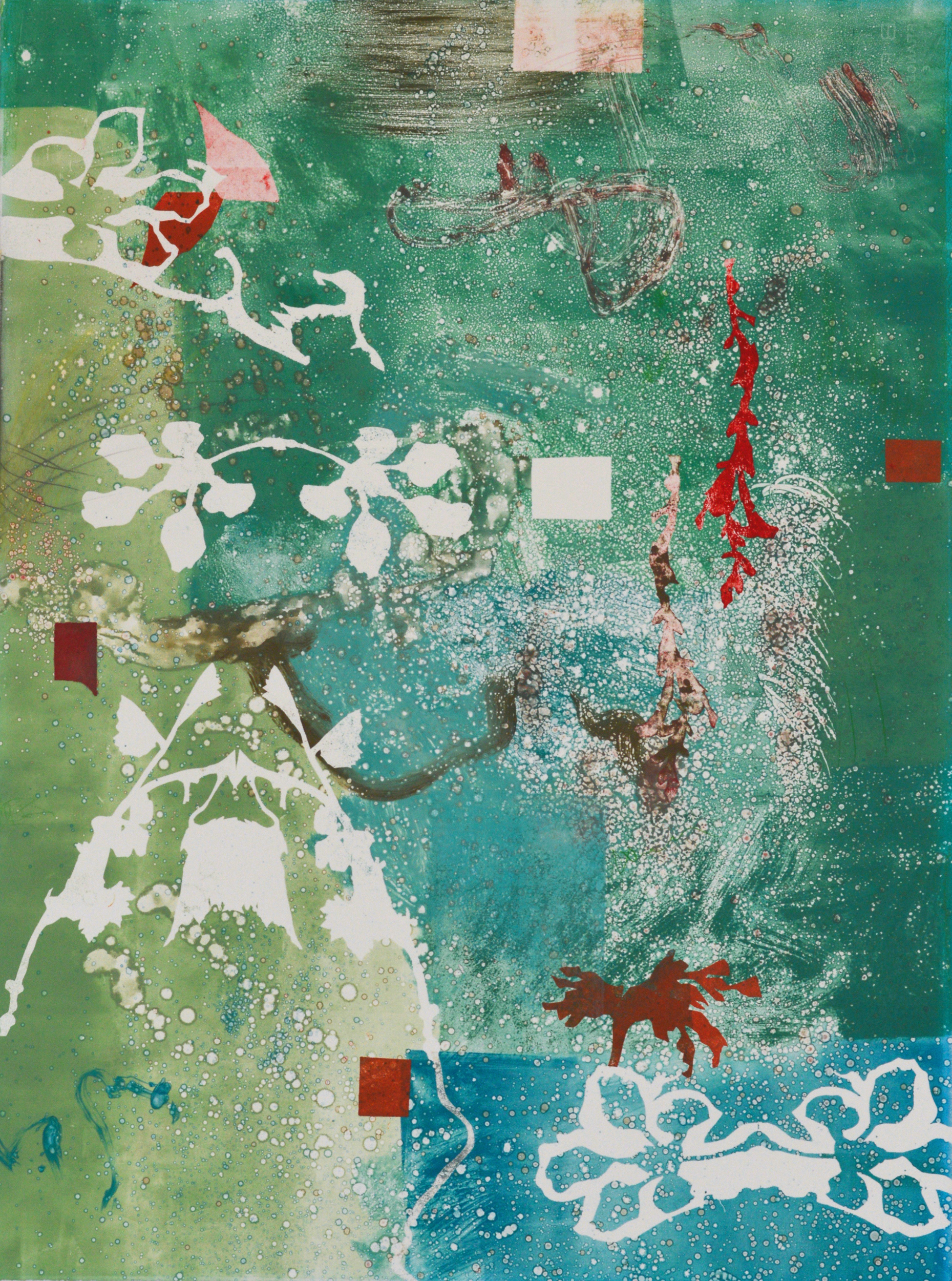 "Book of Tides #04, monotype, 30""x22"" Mateo Galvano 2009"