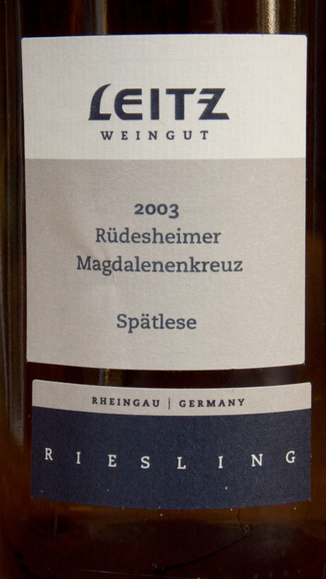 Leitz, Riesling Rüdesheimer Magdalenenkreuz Spätlese 2003