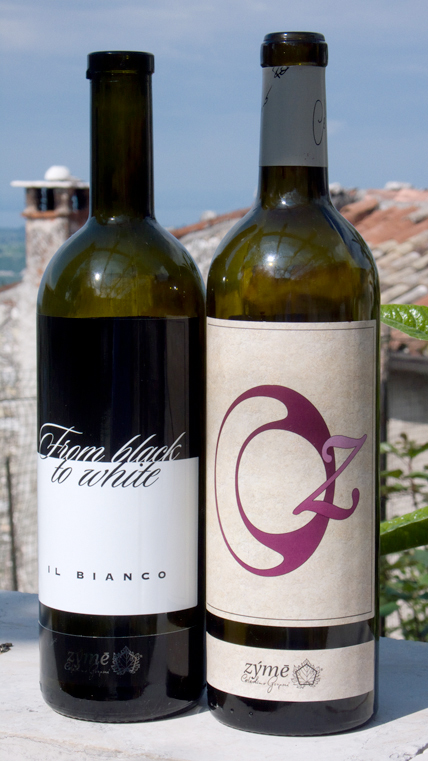 Zýmē's From Black To White Il Bianco 2010 (left) and Oz Oseleta 2007 (right)