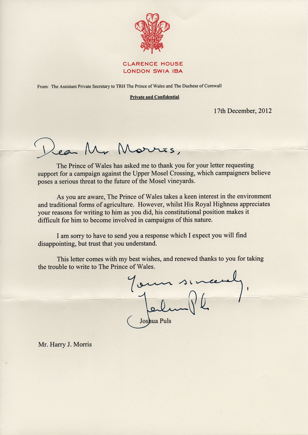 A royal response