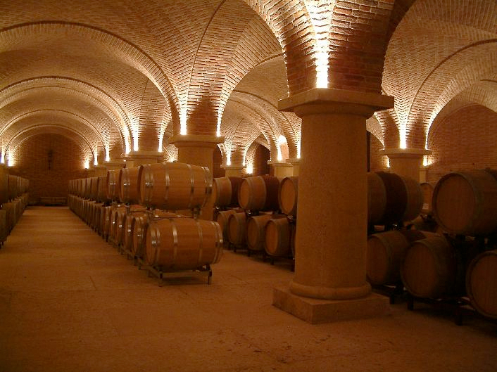 Romano dal Forno's Vaulted Barrel Cellar