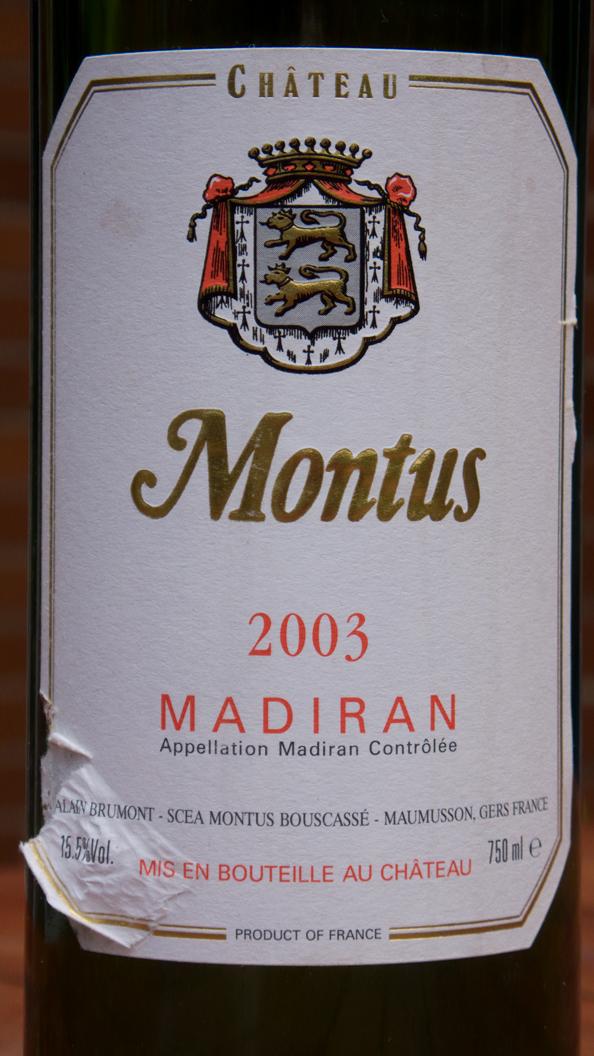 Château Montus Madiran 2003