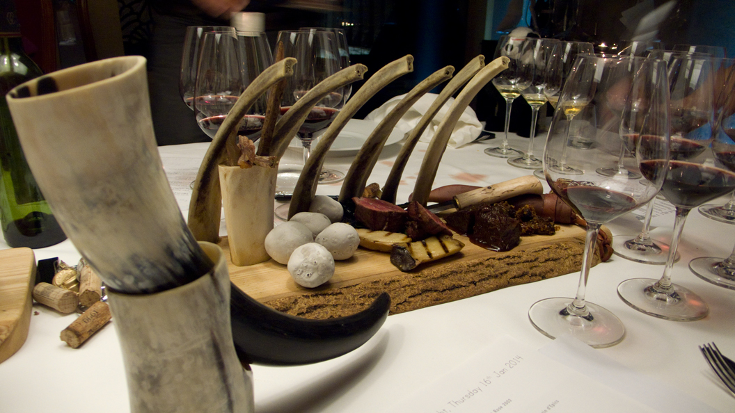 Belted Galloway beef, mushrooms, sticks and stones
