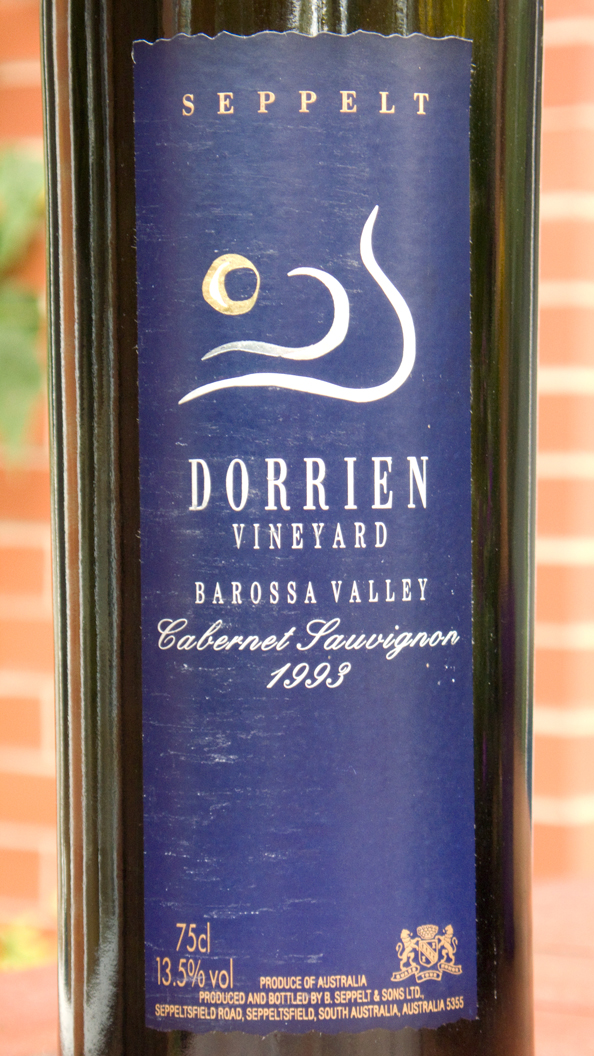 Seppelt, Dorrien Vineyard Cabernet Sauvignon 1993