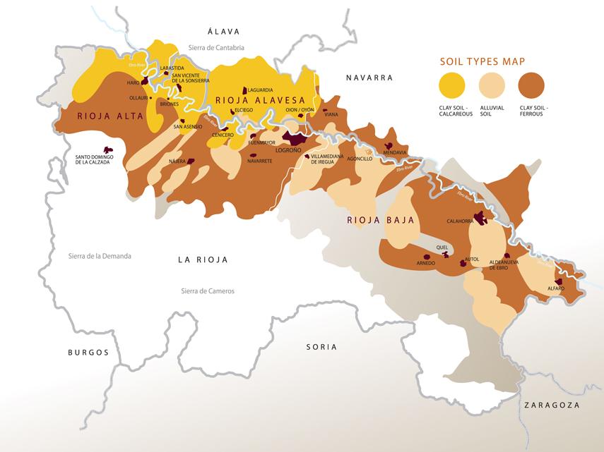 Denominacion de Origen Calificada Rioja Soil Types Map