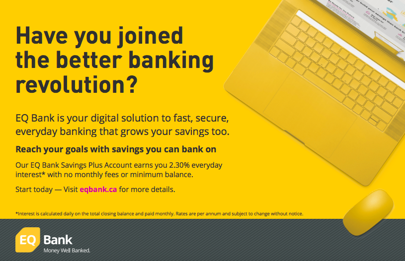 EQ Bank print ad
