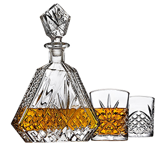 If he enjoys a drink every now and then you can get him a bottle of one of his favorites, a couple packs of craft beer, or a Whiskey Decanter set like this one.