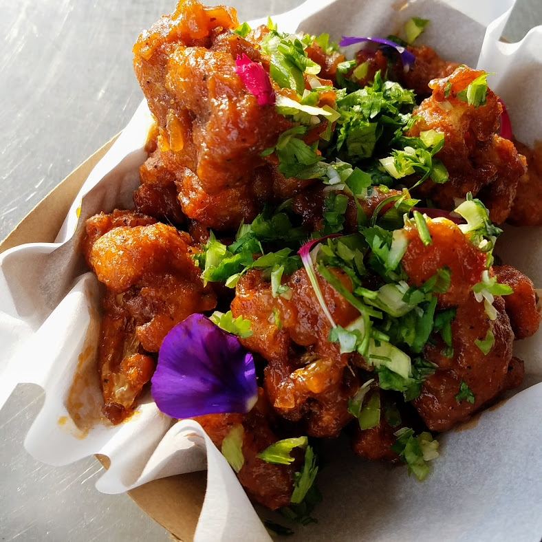 Gobi Manchurian - Deep fried cauliflower tossed in our sweet and spicy sauce