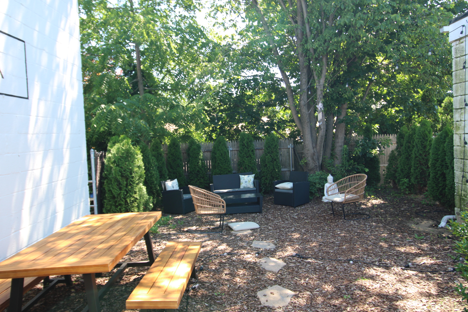 Enjoy in our relaxing backyard space.