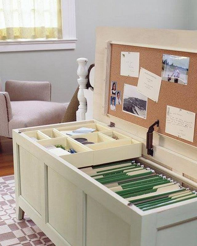 REPURPOSED CHEST - now serving as an office supplies and filing space. You can also buy beautiful vertical file cabinets that look like this - premade and ready to use.  #repurposing #officeorganization #filingcabinet #papermanagement #homeorganization #konmari #tidyingup #tidying #cerifiedprofessionalorganizer #certifiedkonmariconsultant #konmariconsultants #mariekondo #professionalorganizer #charlestonorganizer #charleston #charlestonsc