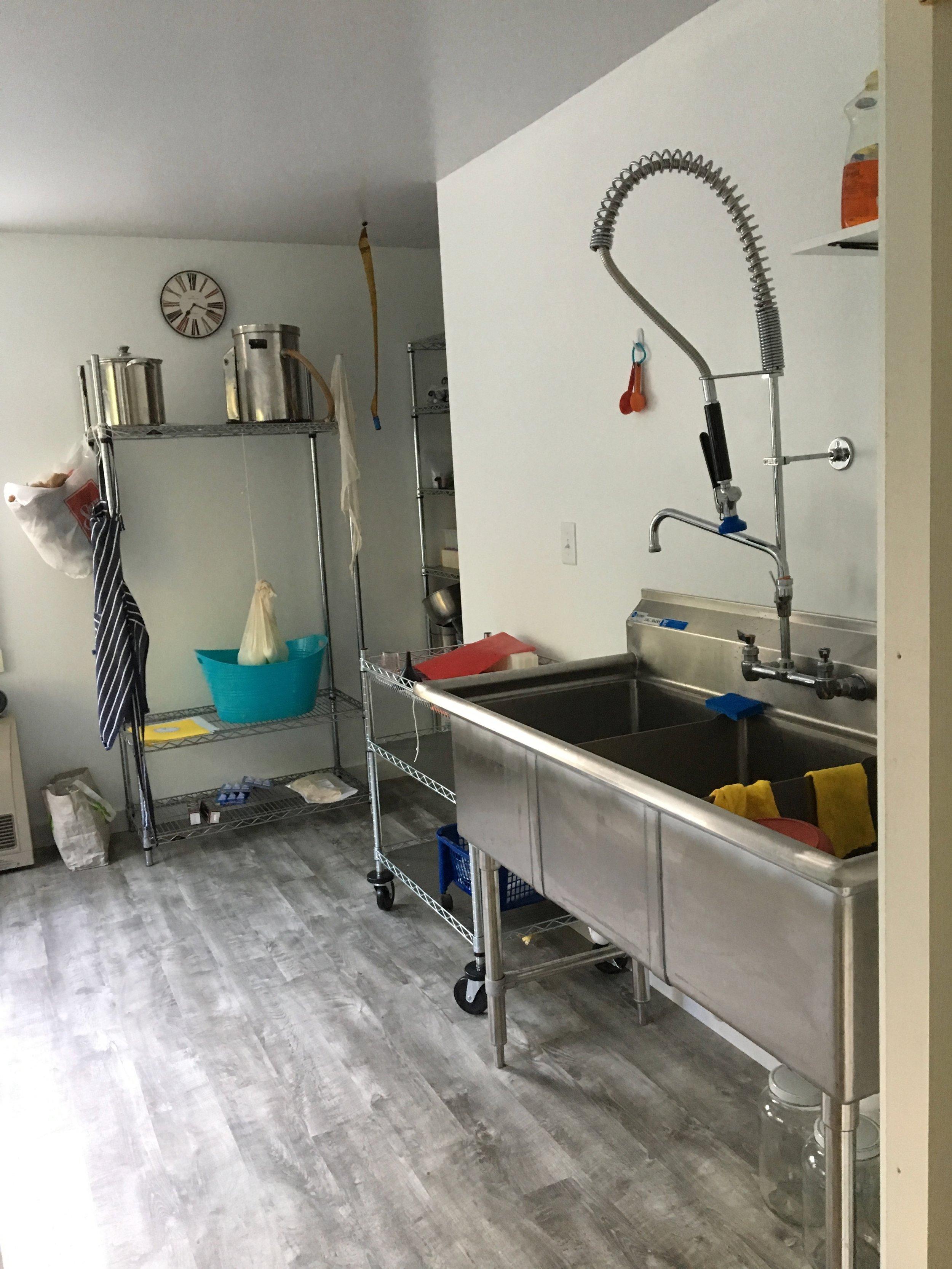 Bending Birch Farm industrial kitchen