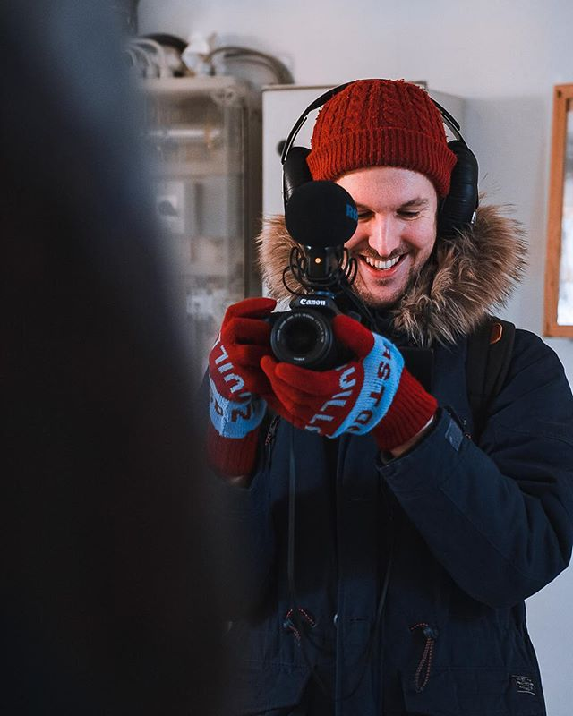 @jamesandrewcoxx behind the camera at the top of the lighthouse! Haven't seen him happier since. Check out his video from the day at @paradissessions ! . . . . . . #behindthescenes #shooting #paradíssessions #music #musiclife #reykjavikmusic #iceland2019 #reykjavik #reykjavik2019 #iceland #icelandmusic #icelandic #interview #cameracrew #canon #videomaker  #acoustic #livesession #visitreykjavik #bts #storypeople #cinematographer #setlife #productionlife #videoproduction #makingfilms #filming #workingtogether #filmmaker #todaysshoot