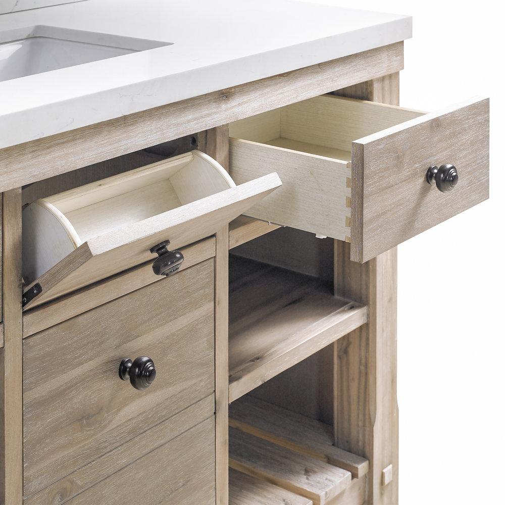 elbe rustic 48 single sink vanity