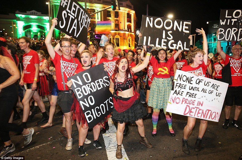 No Pride in Detention in the 2016 Mardi Gras Parade  Image:  Medium