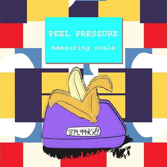 Wall paper #3 / peel pressure measuring scale . . . .  #design #graphicdesign #illustration #banana #pressure #wallpaper