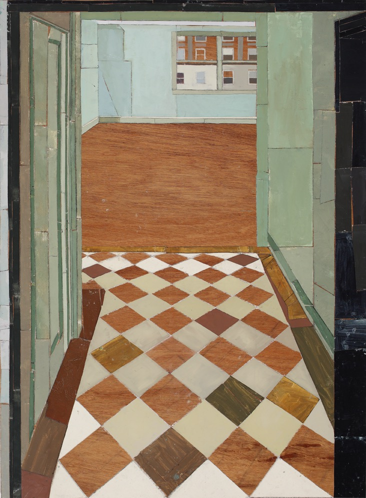 1150 Fifth Ave. #2, Oil, canvas, collage, mixed media on board, 120 x 90cm, 2006