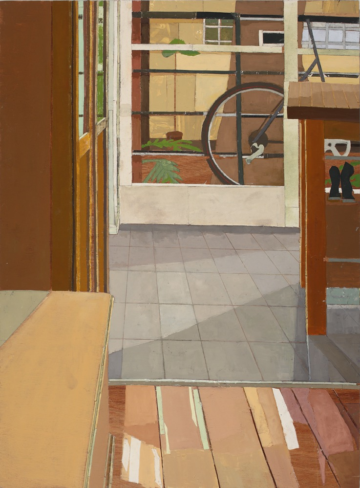 2/7 St. Neot Ave. #1, Oil, canvas, collage, mixed media on board, 120 x 90 cm, 2006