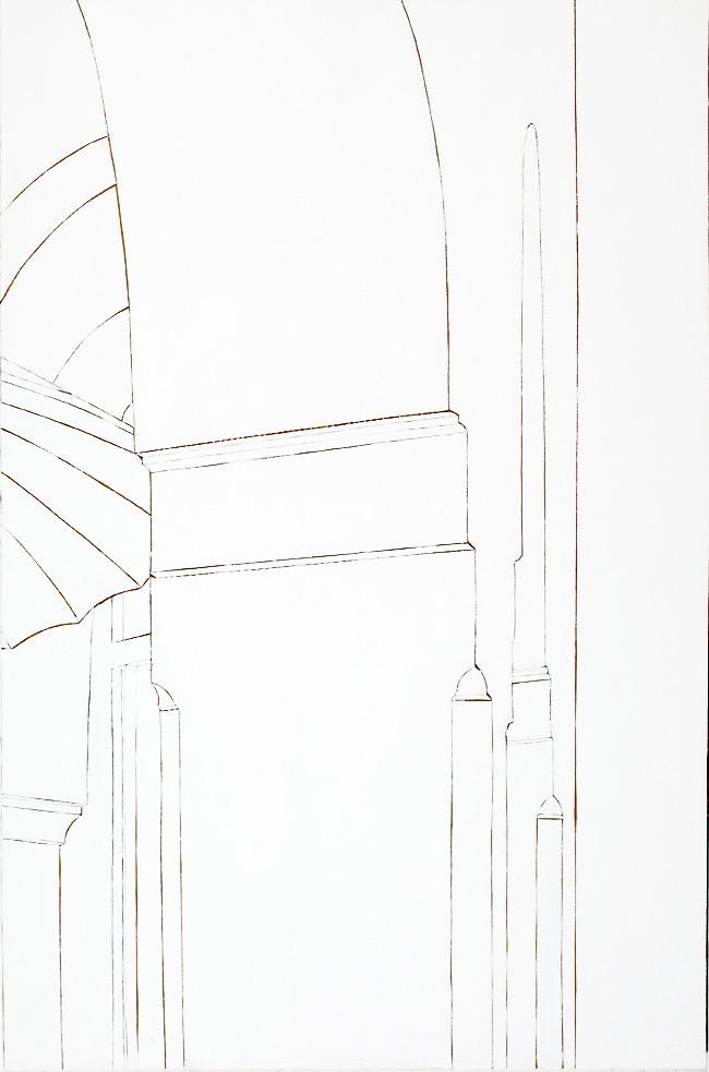 Paris Mosque #2, Acrylic, canvas, collage on board, 120 x 80cm, 2011