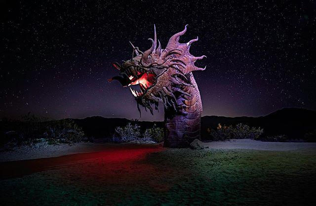 Borrego Springs, Ca. Statue was lit from the sky by @redlandssky.