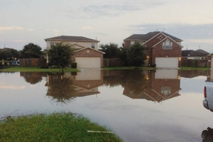 Houston Homes Flooded by Hurricane Harvey