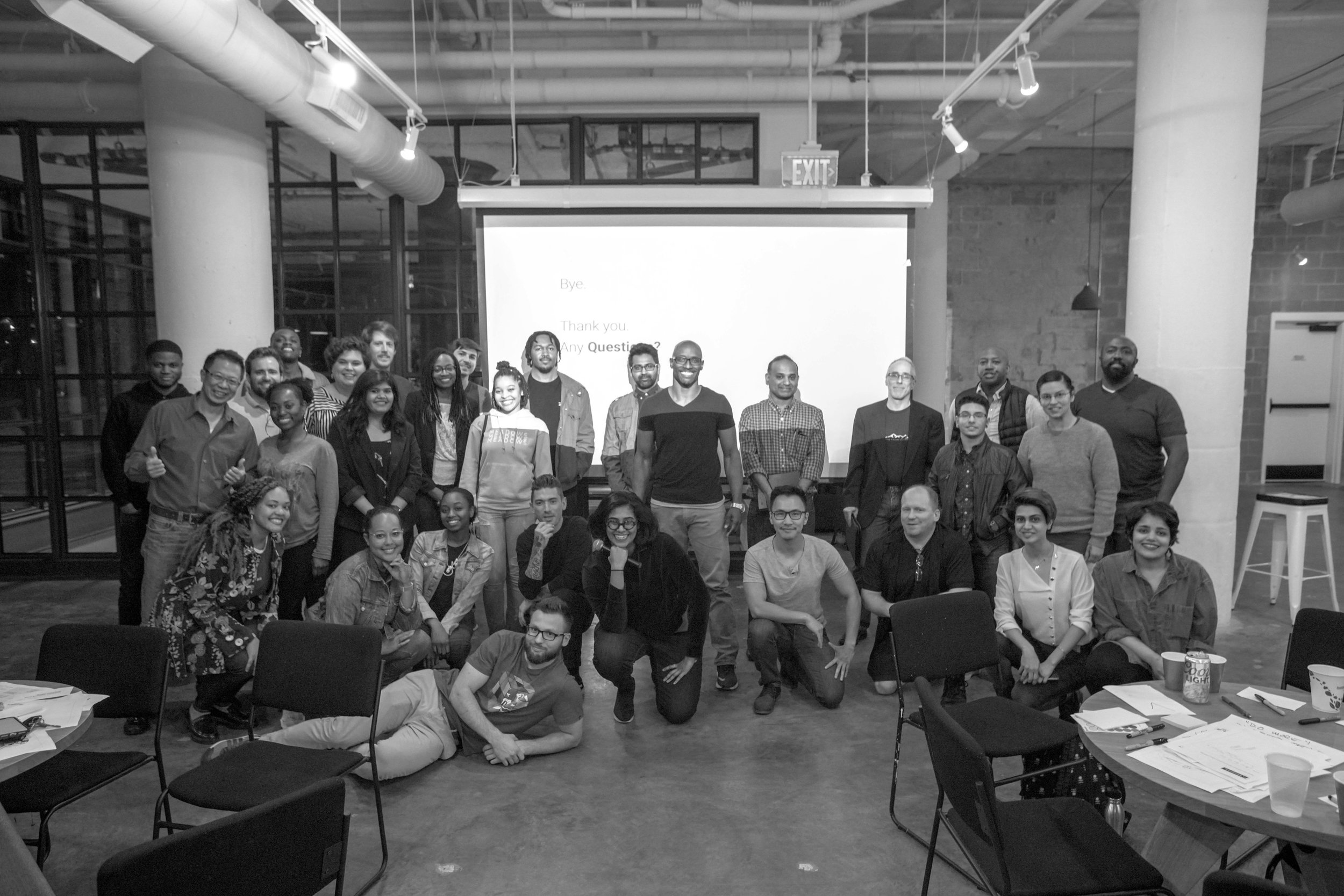 I conducted a pared down version of the 1-day workshop at General Assembly in partnership with the local Art in Tech meetup.