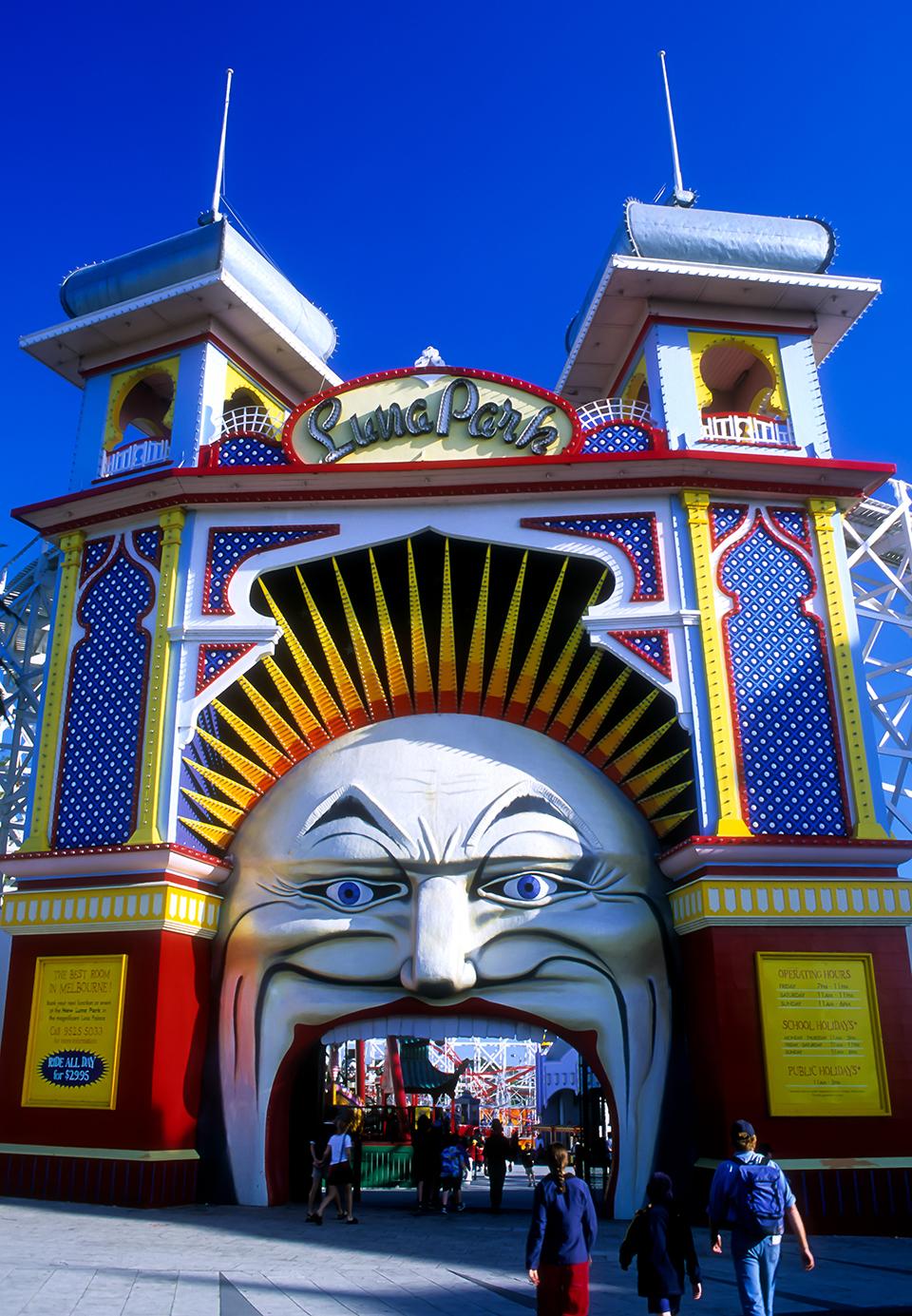 Front entrance to Luna Park, Melbourne, VIC. Australia. 2002_LP.jpg