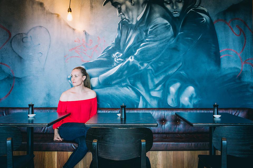 Lisa Daniel in her recent commercial design project in Coffs Harbour