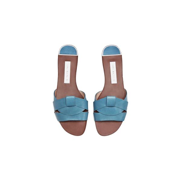 Leather Crossover Sandal, Zara
