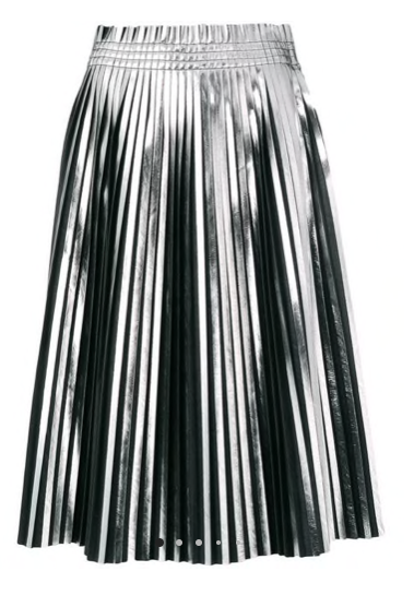 MM6 Maison Margiela Metallic Pleated Skirt