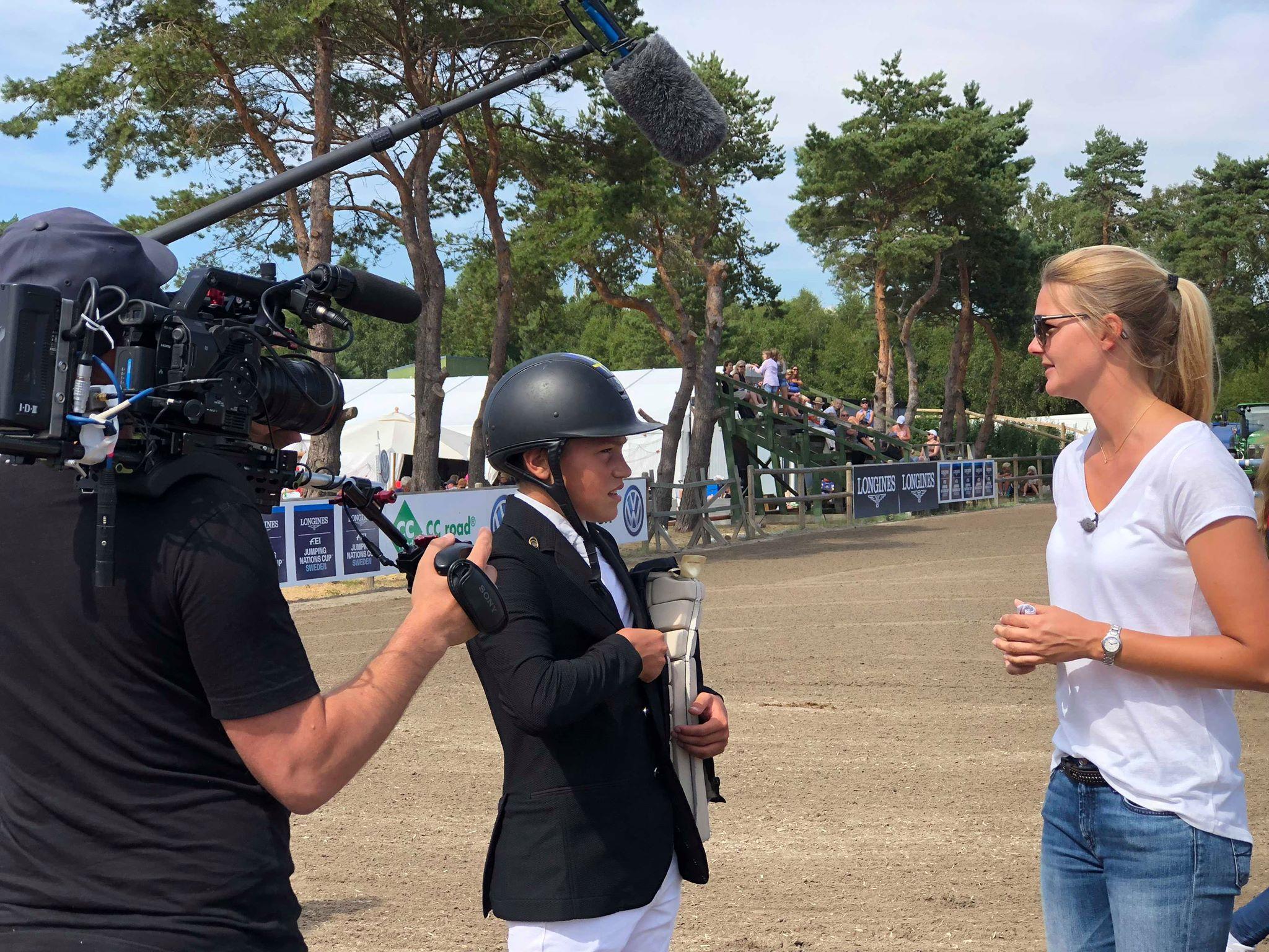 Svt filmar Ingemar efter andraplatsen på Falsterbo