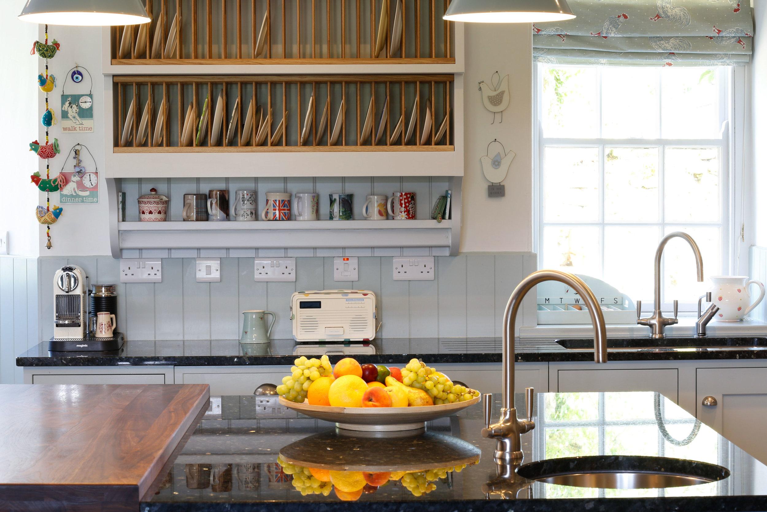 Bespoke kitchen sink detail
