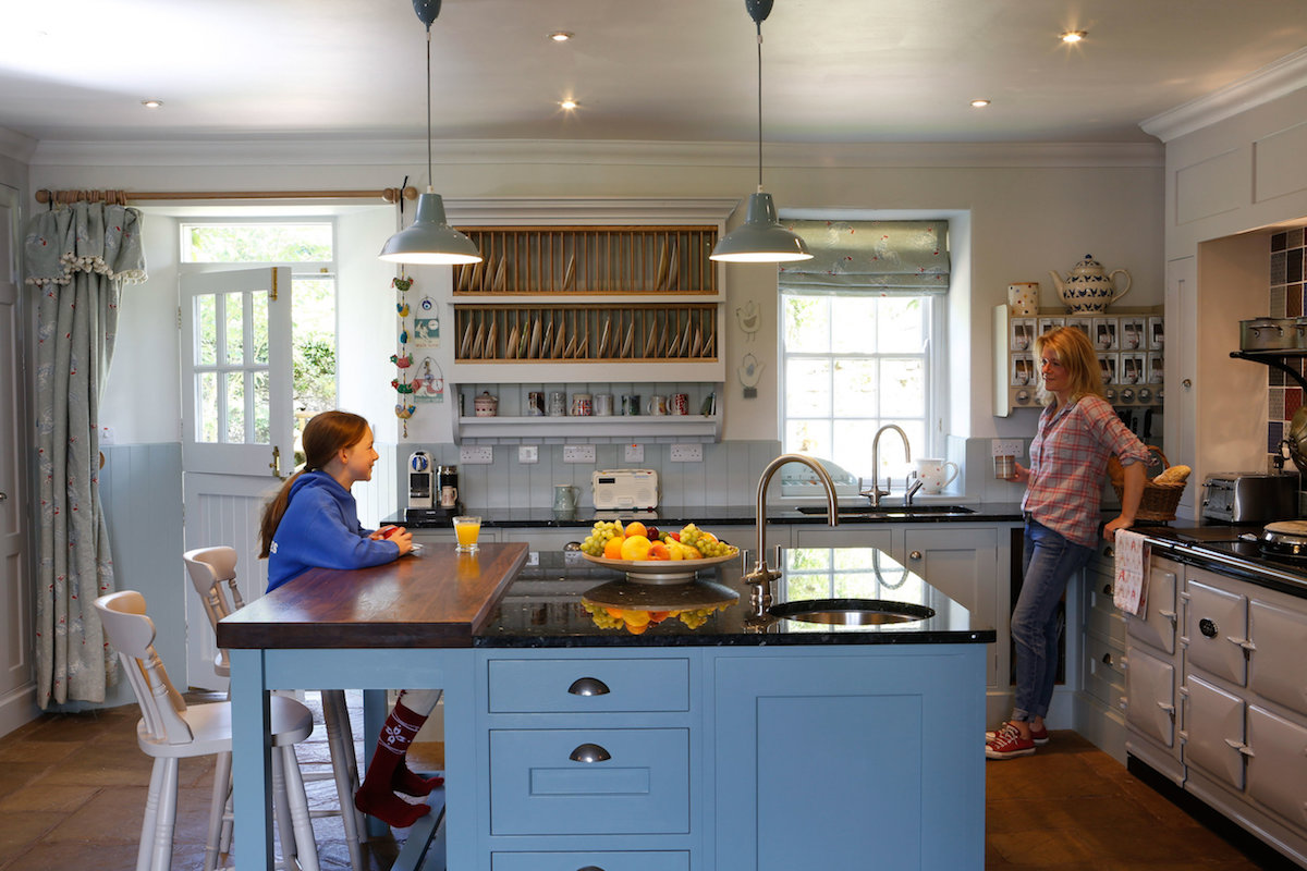 Lovely family hand crafted kitchen