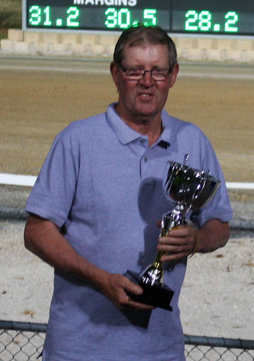 Bettor Party's Trainer Les Harding  Images Courtesy of Graham Fischer