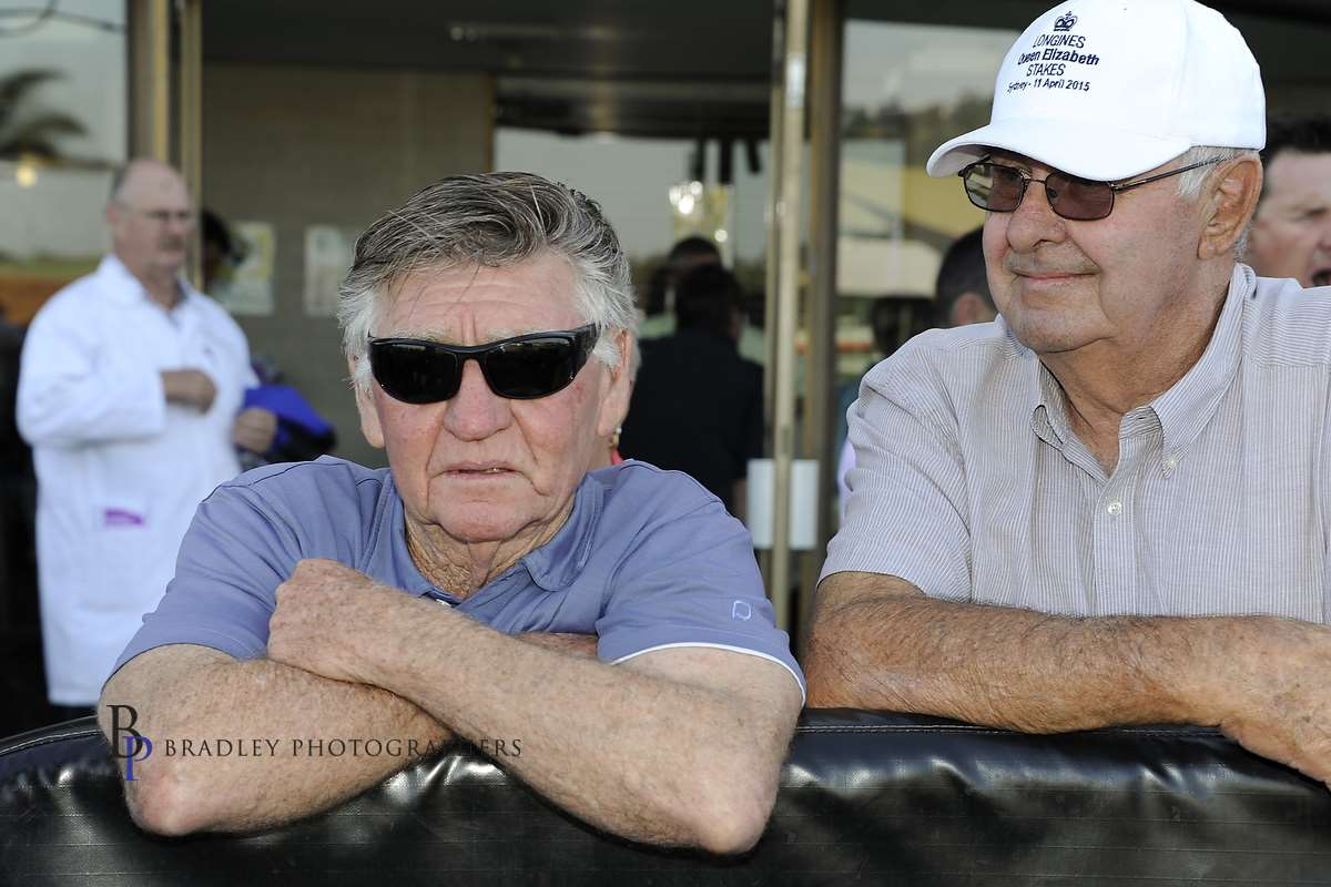 Image Courtesy of Bradley Photos - Les is always a picture of concentration at the races.