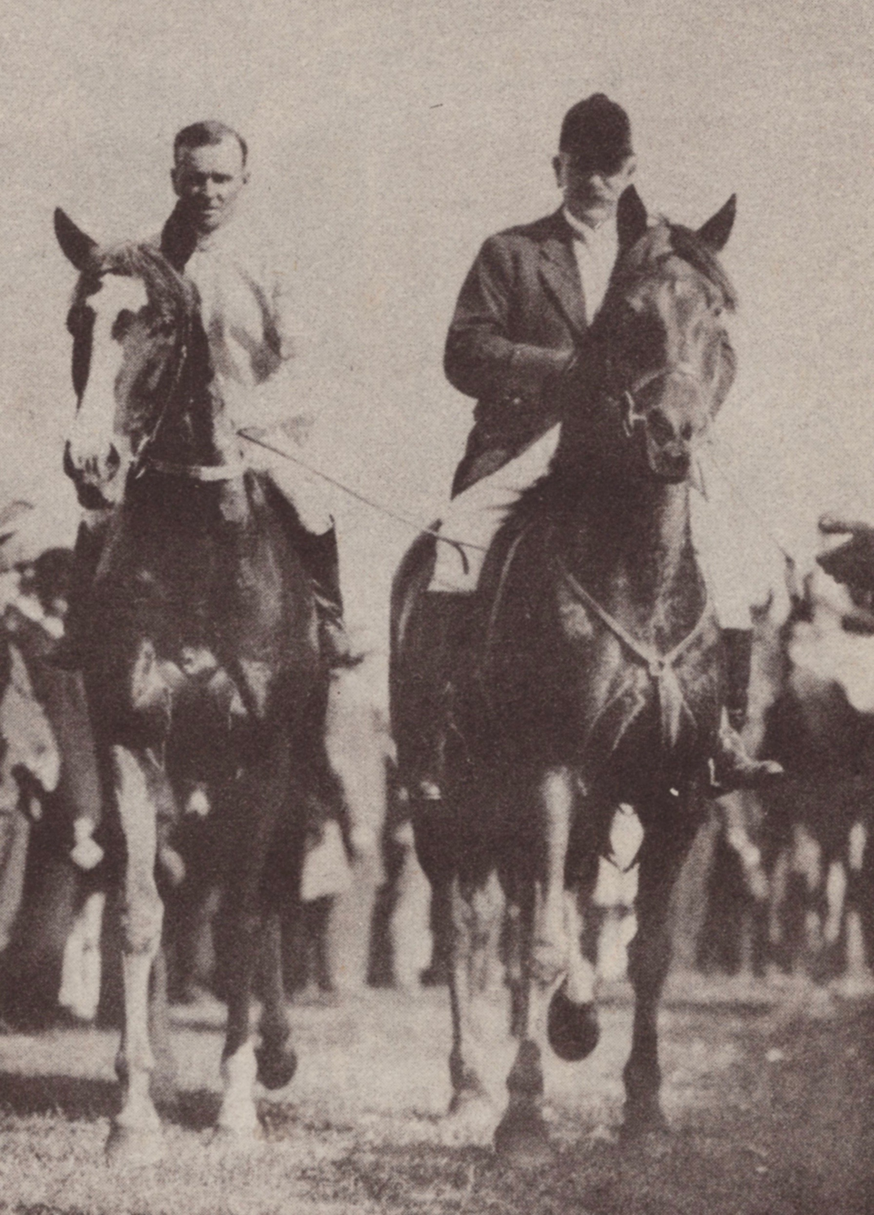 Image courtesy of Barry Collier - Bob returns to scale on his fourth Cup winner Trivalve 1927.