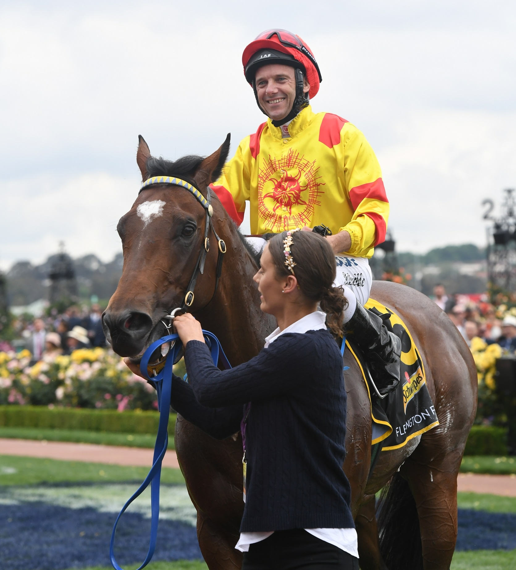 Image courtesy Steve Hart Photographics - Legend Of Condor returns to scale on Melbourne Cup day