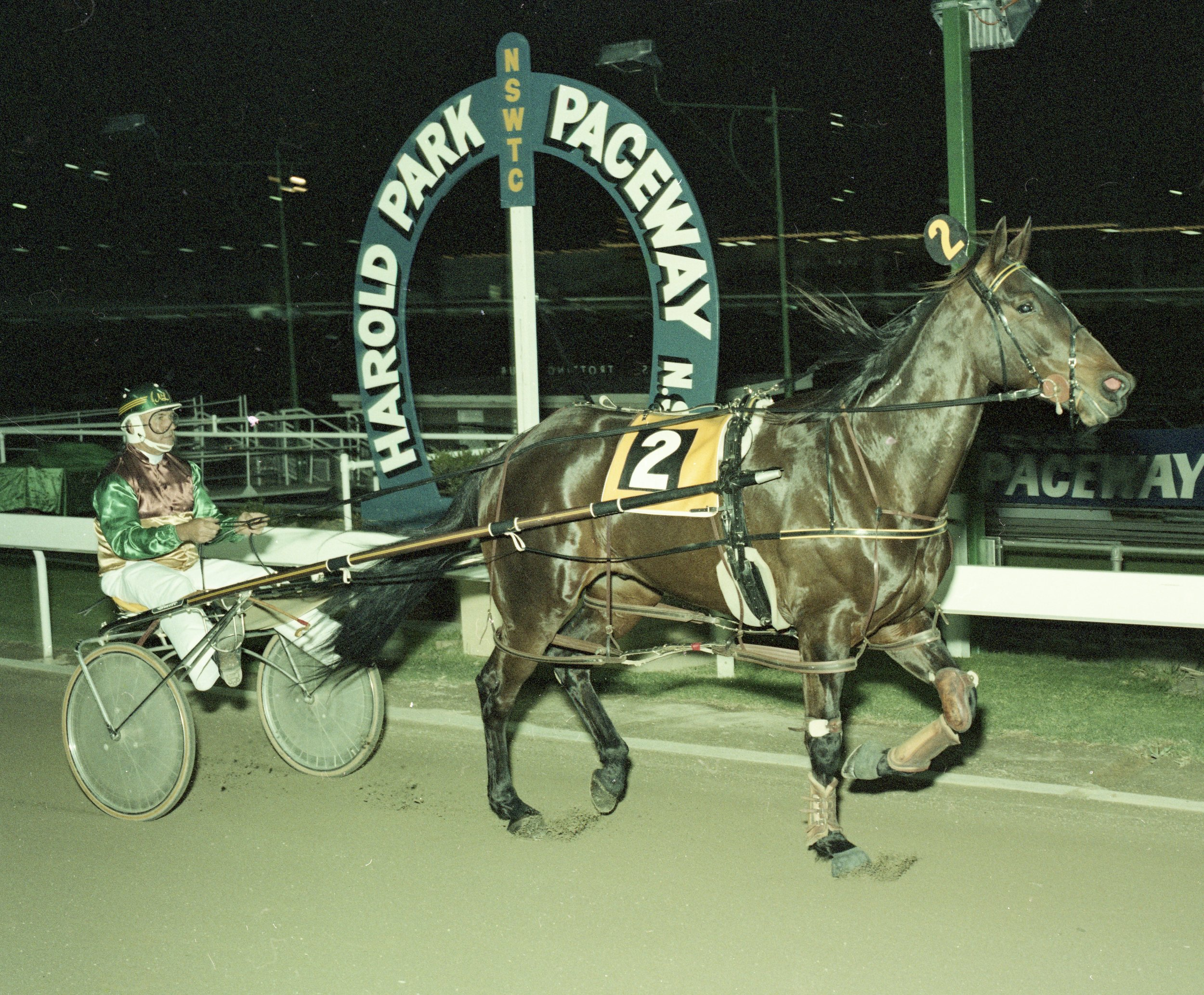"""Image courtesy National Trotguide - """"The Mittagong Mauler"""" in one of his many Harold Park wins."""