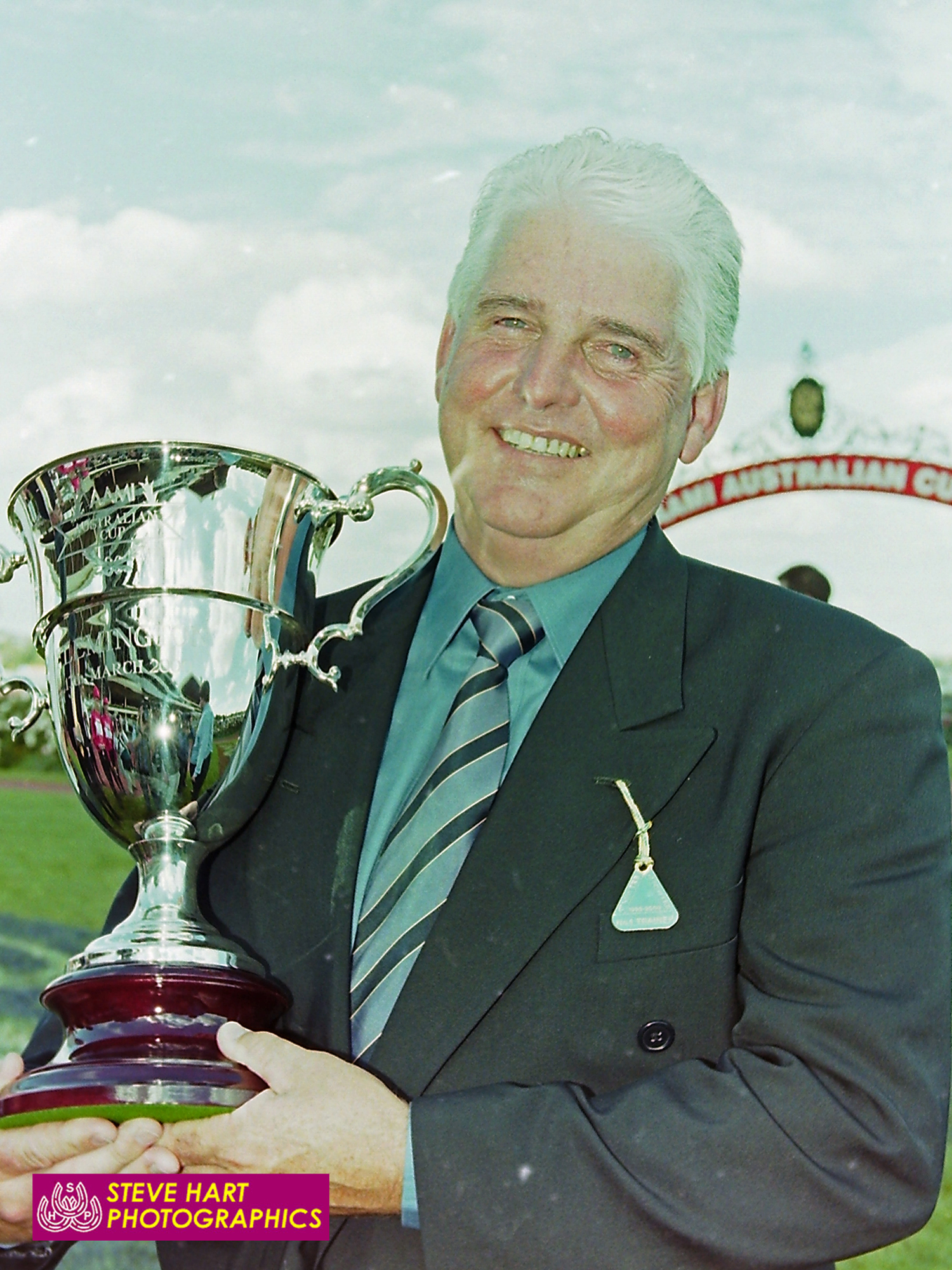 Image courtesy Steve Hart - A beaming Rod Craig with the Australian Cup trophy.